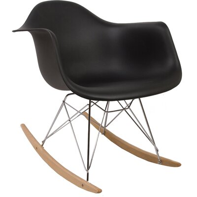 Rocking Chair Frame Color: Black