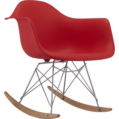 Rocking Chair Frame Color: Red