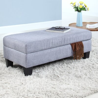 Classic Upholstered Storage Bench Upholstery: Light Gray