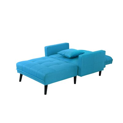 Walthall Chaise Lounge Upholstery: Sky Blue