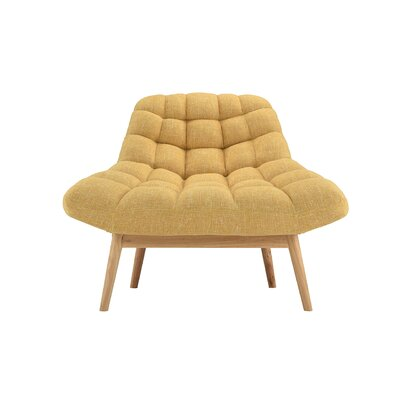 Wilcoxen Modern Plush Lounge Chair Upholstery: Yellow