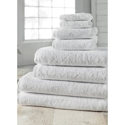 Salbakos Arsenal 8 Piece Turkish Cotton Towel Set Color: White