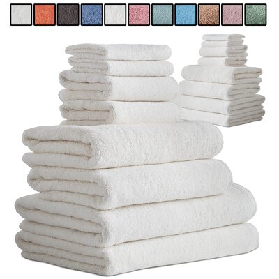 Salbakos Arsenal 8 Piece Turkish Cotton Towel Set Color: Ivory