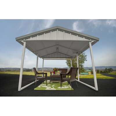 10 Ft. x 12 Ft. Canopy Canopy Finish: Country Red, Trim Finish: Polar White