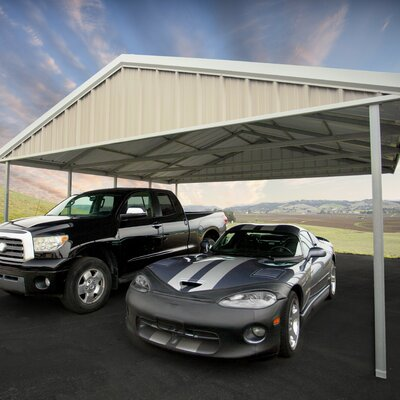 20 Ft. W x 24 Ft. D Canopy Canopy Finish: Light Stone, Trim Finish: Patina Green