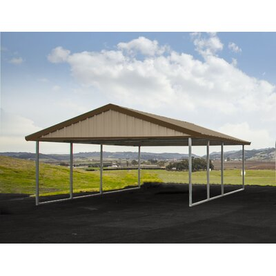 16 Ft. x 20 Ft. Canopy Canopy Finish: Sahara Tan, Trim Finish: Cocoa Brown