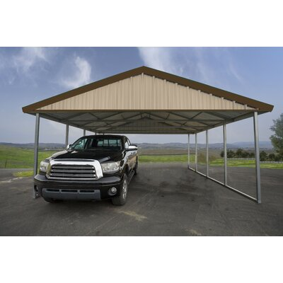 20 Ft. x 20 Ft. Canopy Canopy Finish: Sahara Tan, Trim Finish: Cocoa Brown