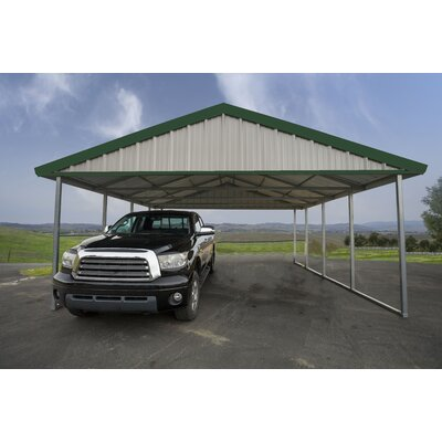 20 Ft. W x 24 Ft. D Canopy Canopy Finish: Light Stone, Trim Finish: Emerald