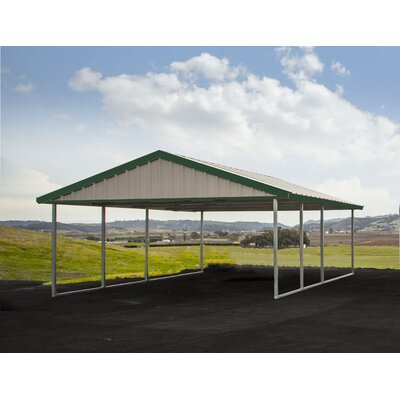 16 Ft. x 20 Ft. Canopy Canopy Finish: Light Stone, Trim Finish: Emerald