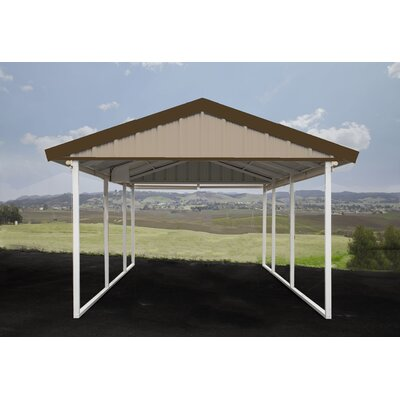 12 Ft. x 20 Ft. Canopy Canopy Finish: Sahara Tan, Trim Finish: Cocoa Brown
