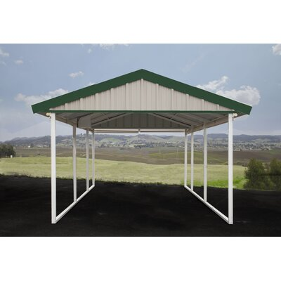 12 Ft. x 20 Ft. Canopy Canopy Finish: Light Stone, Trim Finish: Emerald