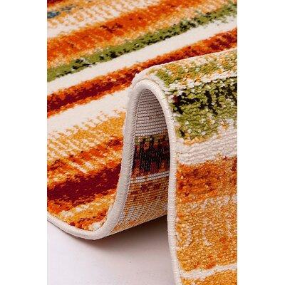 Flora Carpets Olbios White/Yellow Area Rug