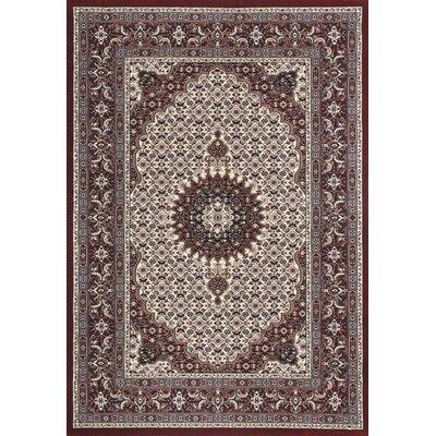Flora Carpets Markiz Cream/Bordo Area Rug