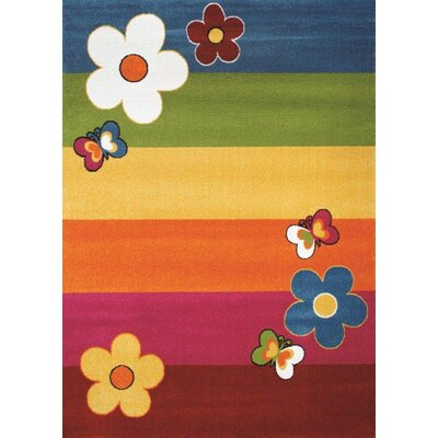 Flora Carpets Olbios Yellow/Red Area Rug