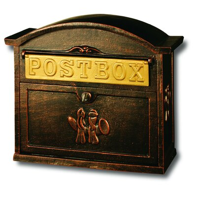 Heavy Duty Cast Iron Locking Wall Mounted Mailbox
