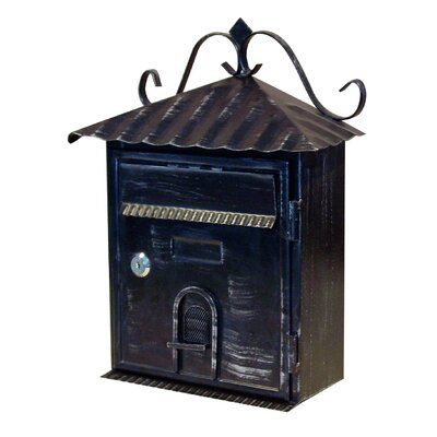 Vintage Locking Wall Mounted Mailbox