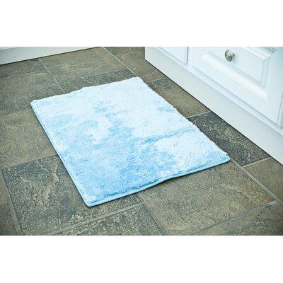 """Raffa Bath Rug Color: Blue, Size: 17"""" x 24"""""""