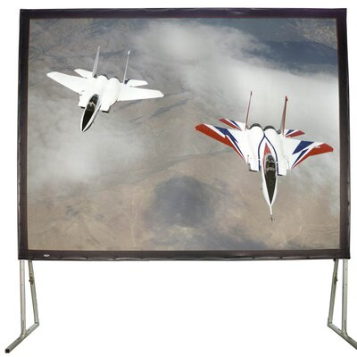 "White Fixed Frame Projection Screen Viewing Area: 81"" H x 108"" W"