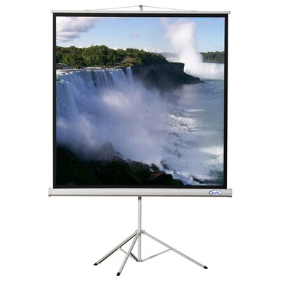 "Matte White Portable Projector Screen Viewing Area: 70"" H x 70"" W"
