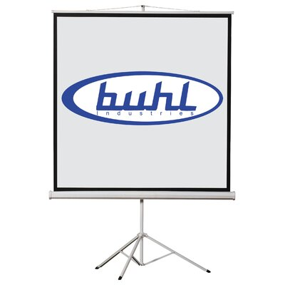 "Matte White Portable Projector Screen Viewing Area: 96"" H x 96"" W"