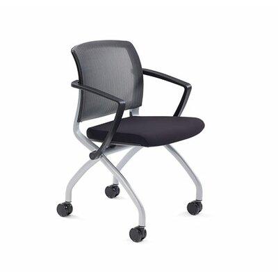 Zego Mesh Desk Chair (Set of 2) Upholstery: Grey, Frame Finish: Platinum