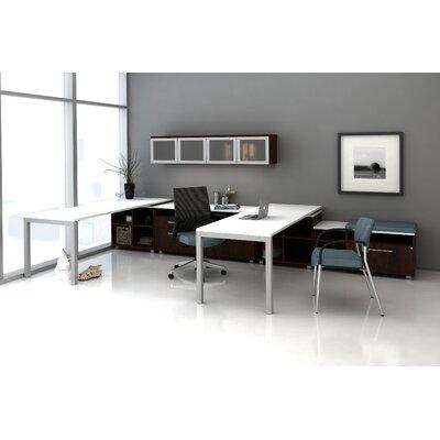Trig Private L-Shape Desk Office Suite Color: Chocolate Pear
