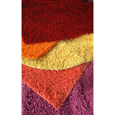 """Cotton Chenille Rug Size: 31"""" H x 96"""" W, Color: Red"""