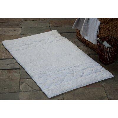 "Glasgow Bath Rug Size: 50"" x 30"", Color: White"