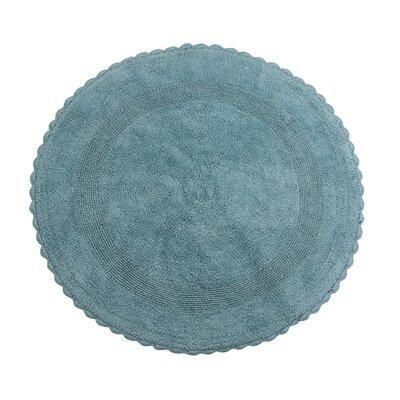Natale 100% Soft Cotton Reversible Bath Rug Color: Arctic Blue