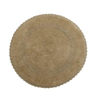 Natale 100% Soft Cotton Reversible Bath Rug Color: Beige