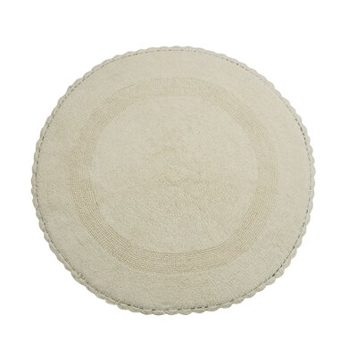 Natale 100% Soft Cotton Reversible Bath Rug Color: Ivory
