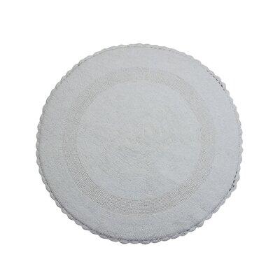 Natale 100% Soft Cotton Reversible Bath Rug Color: White