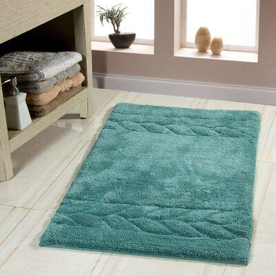"""Glasgow Bath Rug Size: 50"""" x 30"""", Color: Arctic Blue"""
