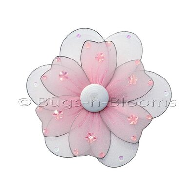 "Flower Hanging Multi-Layered Nylon 3D Wall Decor Size: 8"" H x 8"" W, Color: Pink"