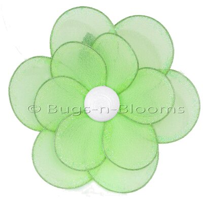 "Flower Hanging Multi-Layered Nylon 3D Wall Decor Size: 8"" H x 8"" W, Color: Green"