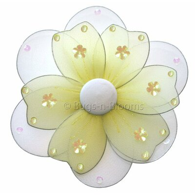 "Flower Hanging Multi-Layered Nylon 3D Wall Decor Size: 8"" H x 8"" W, Color: Yellow"