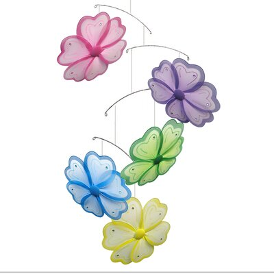 Flower Painted Nylon Hanging Mobile