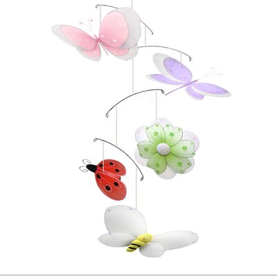 Multi-Layered Butterfly Dragonfly Ladybug Flower Bee Nylon Hanging Mobile