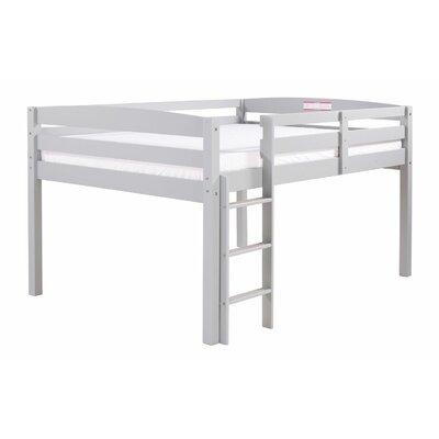 Junior Loft Slat Bed Size: Full, Bed Frame Color: Gray