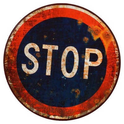 Clementine Creations Stop Sign Graphic Art