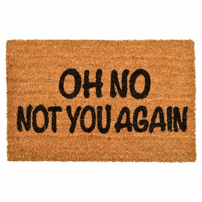 Clementine Creations Not You Again Doormat