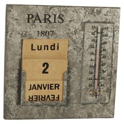 Clementine Creations Paris Thermometer Calendar Graphic Art