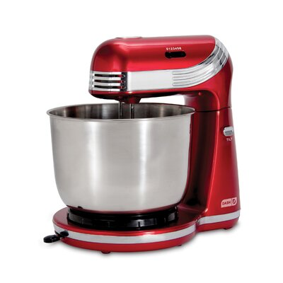 Everyday 6 Speed 3 Qt. Stand Mixer Color: Red