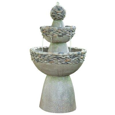 Natural Stone Outdoor Garden Zen 3 Level Fountain