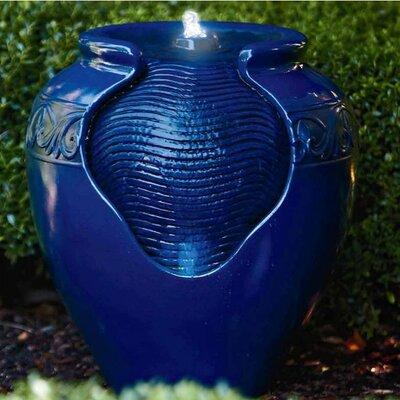 Outdoor Garden Resin Fountain Finish: Royal Blue