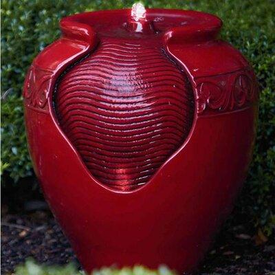 Outdoor Garden Resin Fountain Finish: Vivid Red