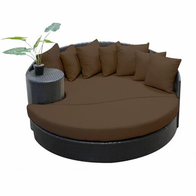 Newport Circular Sun Daybed with Cushions Fabric: Cocoa