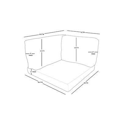 Monaco Indoor/Outdoor Cushion Cover Fabric: Cilantro