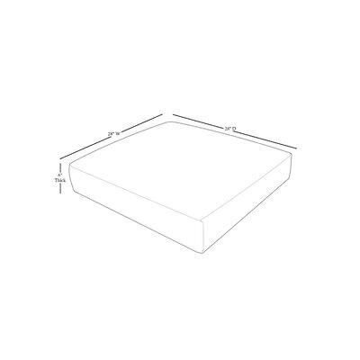 Capecod Indoor/Outdoor Cushion Cover Fabric: Tangerine