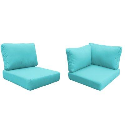 Florence 15 Piece Outdoor Cushion Set Fabric: Aruba